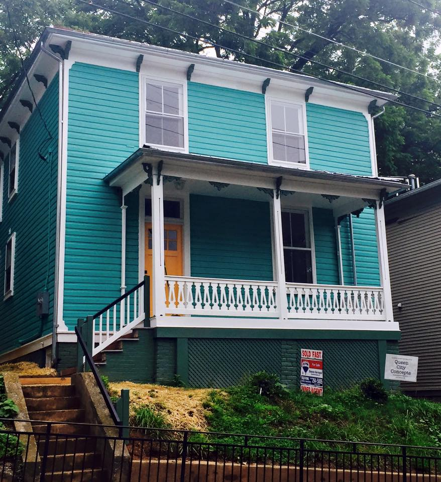 619 frederick st after renovation - exterior