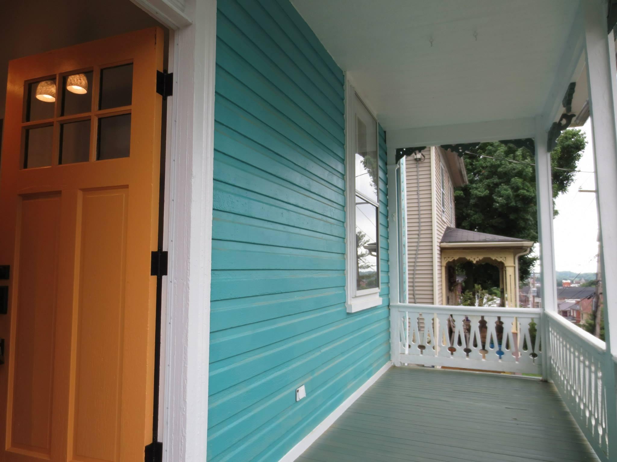 619 frederick st after renovation - front porch