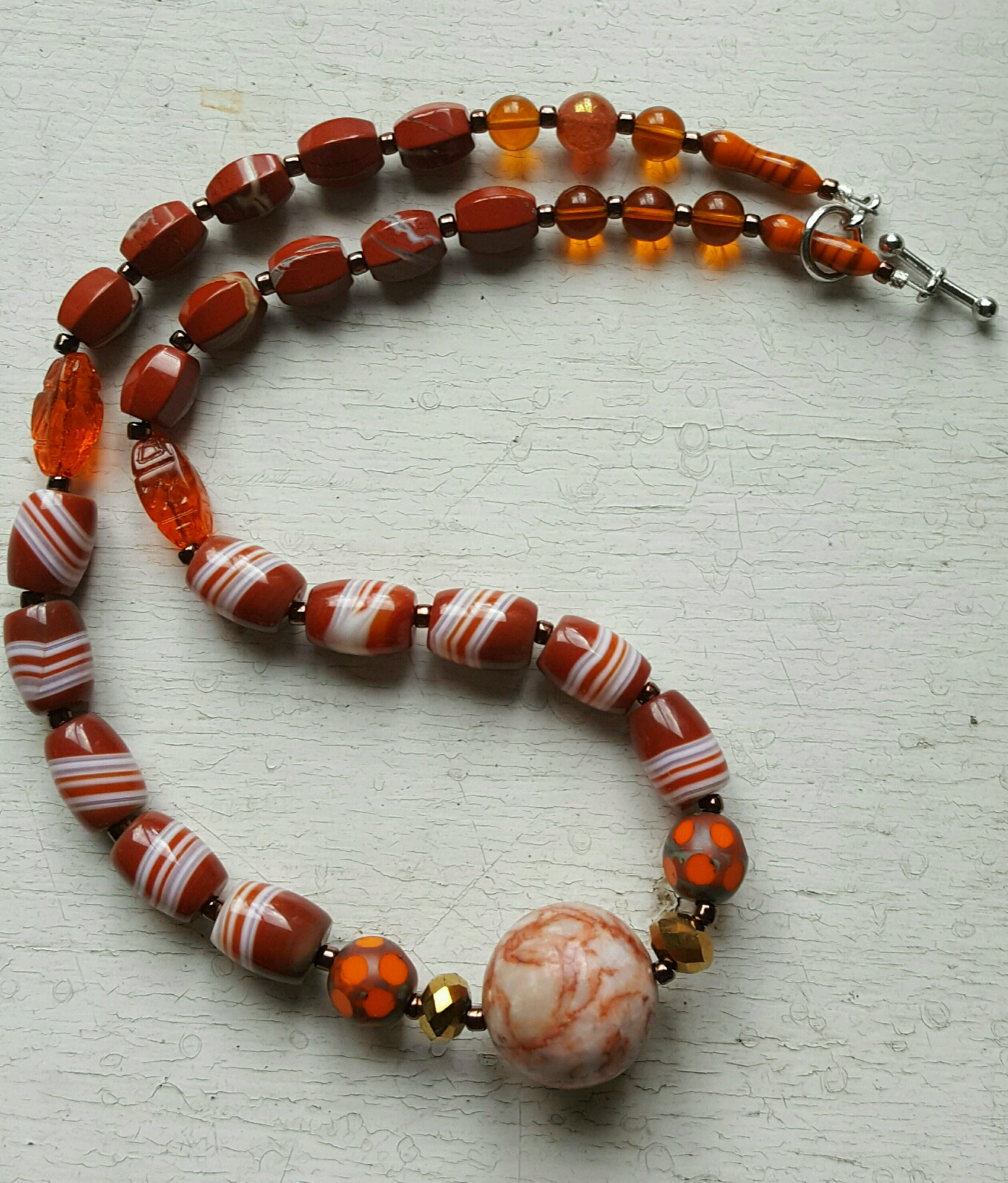 glass bead necklace by susan weeks