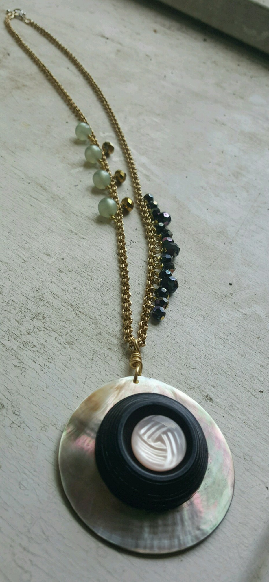 capiz shell statement necklace by susan weeks
