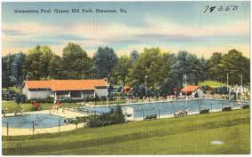 Gypsy Hill Pool Vintage Postcard