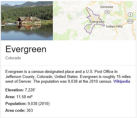 Welcome To Evergreen Conifer And Bailey - What area code is 470