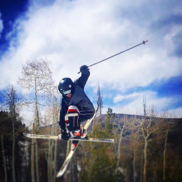 Mogul Skier Cole McDonald Skiing Deer Valley Ski Resort