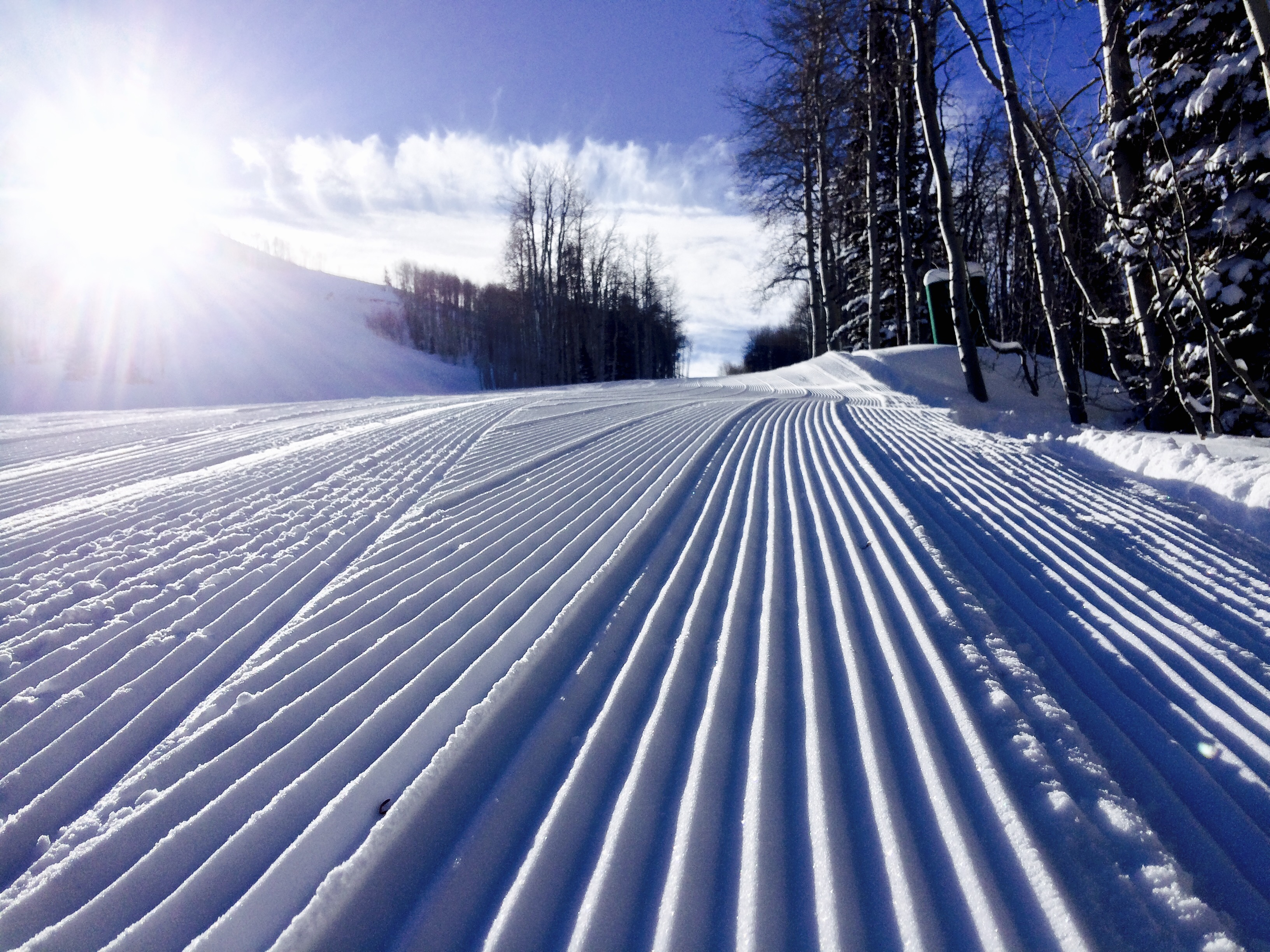 Perfect Grooming at Deer Valley Resort in Park City on Blue Bird Day