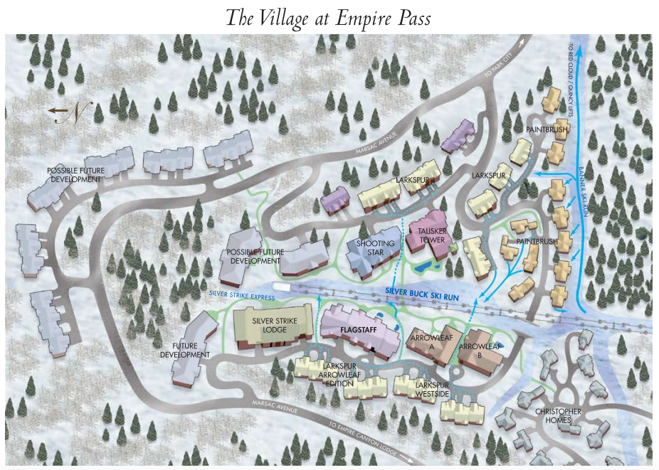Map of Deer Valley, Utah, Village at Empire P with new ... Deer Valley Lodging Map on