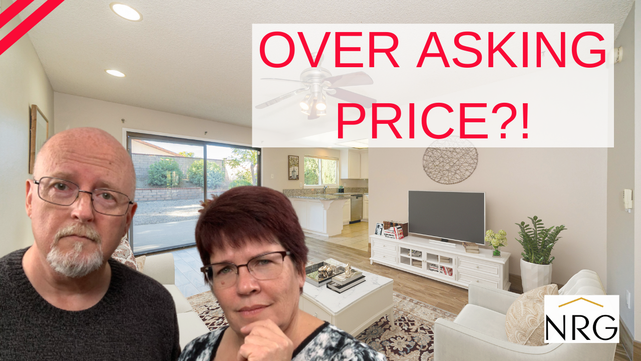 Offers over asking price on a house