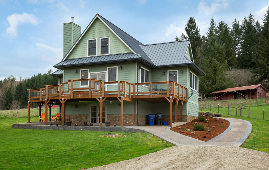 Just Listed:  Custom Home with Private Creek Frontage