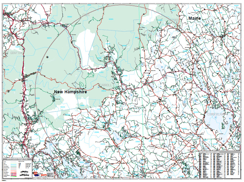 White Mountains of NH and ME Real Estate Market Map