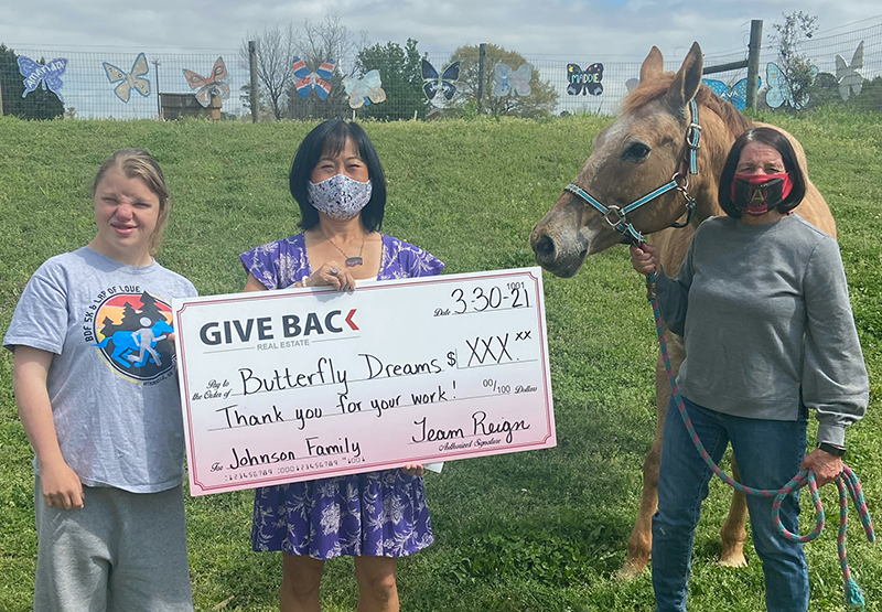 Cheri Cherry GIVES BACK to Butterfly Dreams Farm