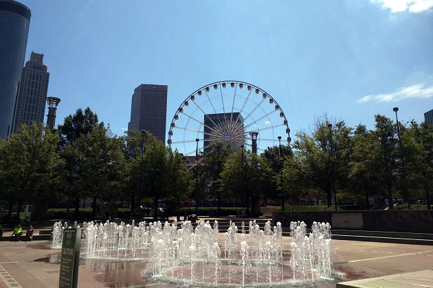 The Ring of Fountains at Centennial Olympic Park - Downtown Atlanta