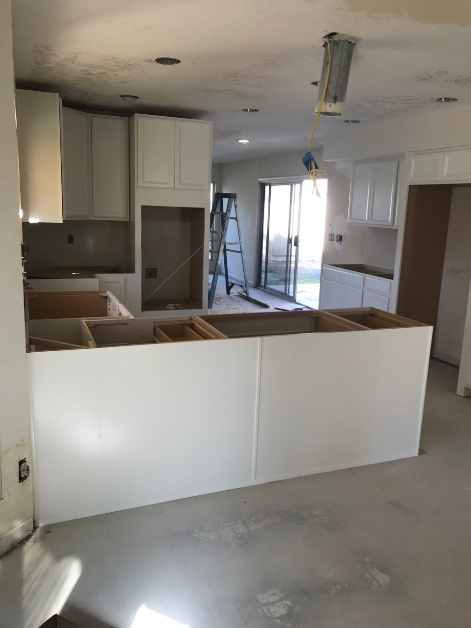 New cabinets are installed