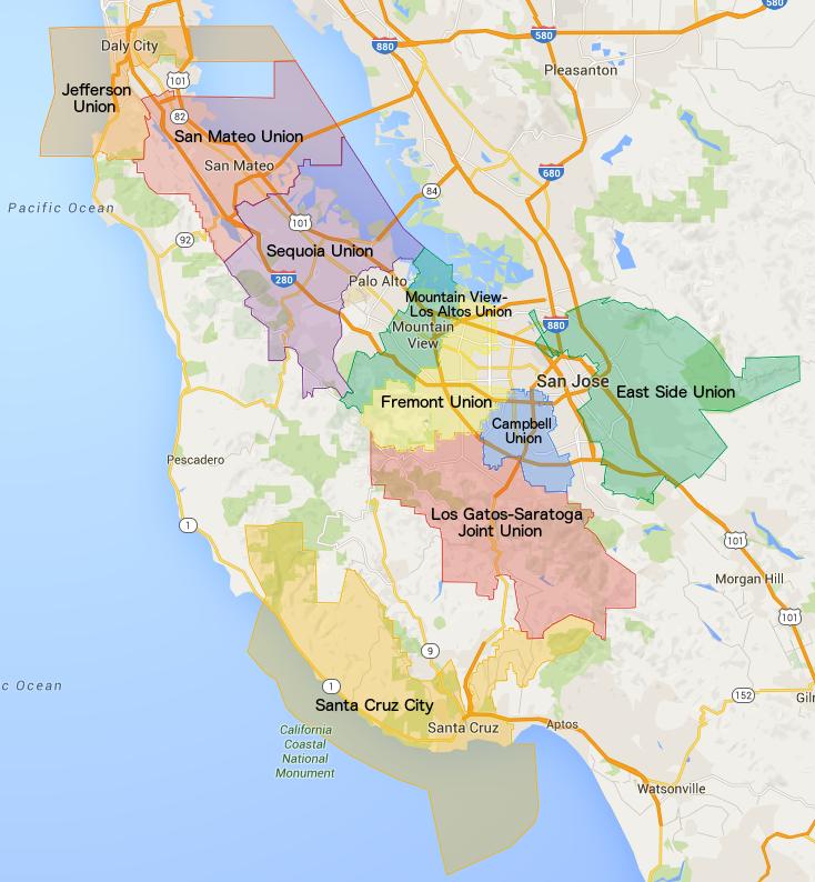San Francisco Bay Area Union High School Districts
