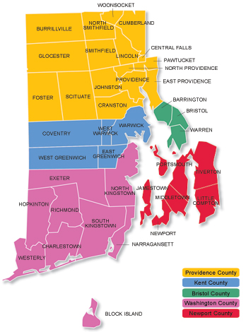 Rhode Island Cities And Towns Hello Im Rene Hague Welcome - Rhode island city map