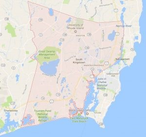 Town Map of South Kingstown, Rhode Island
