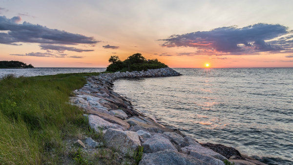Oceanfront Sunset View of Cape Cod