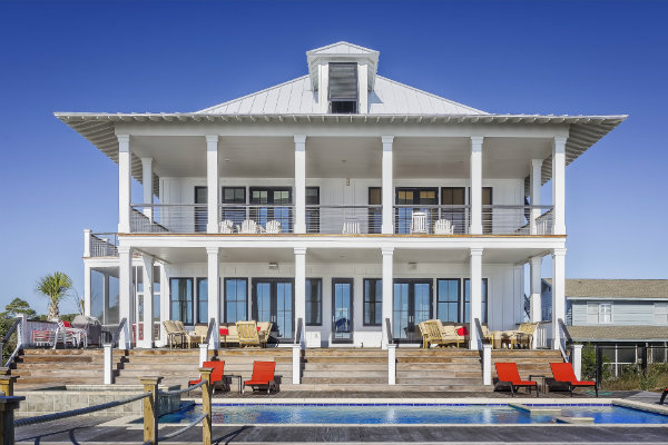 Big House Along the Beach with Pool in Front