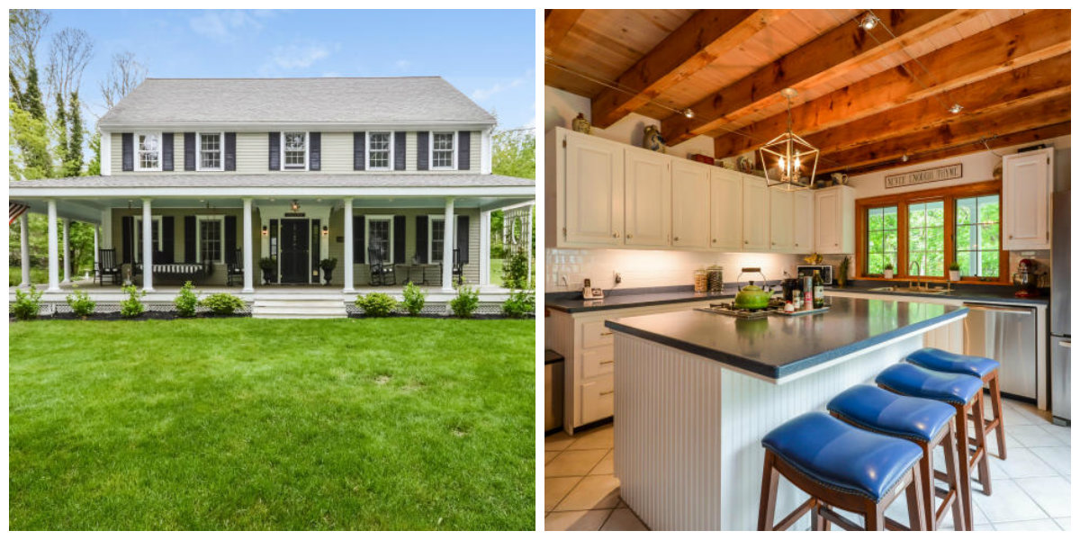 Two Images of 1007 West Yarmouth Rd in Yarmouth Port Cape Cod