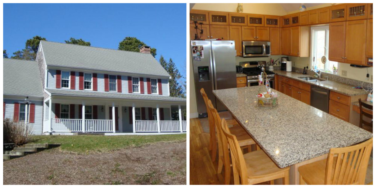 Two Images of 107 Merchant Ave in Yarmouth Port Cape Cod