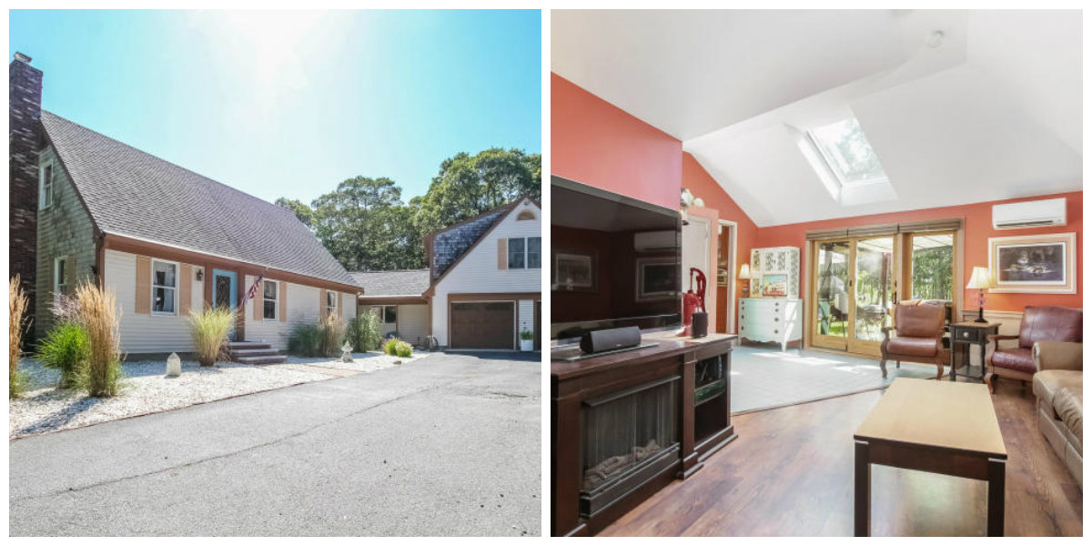 Two Images of 121 Setucket Road in Yarmouth Port Cape Cod