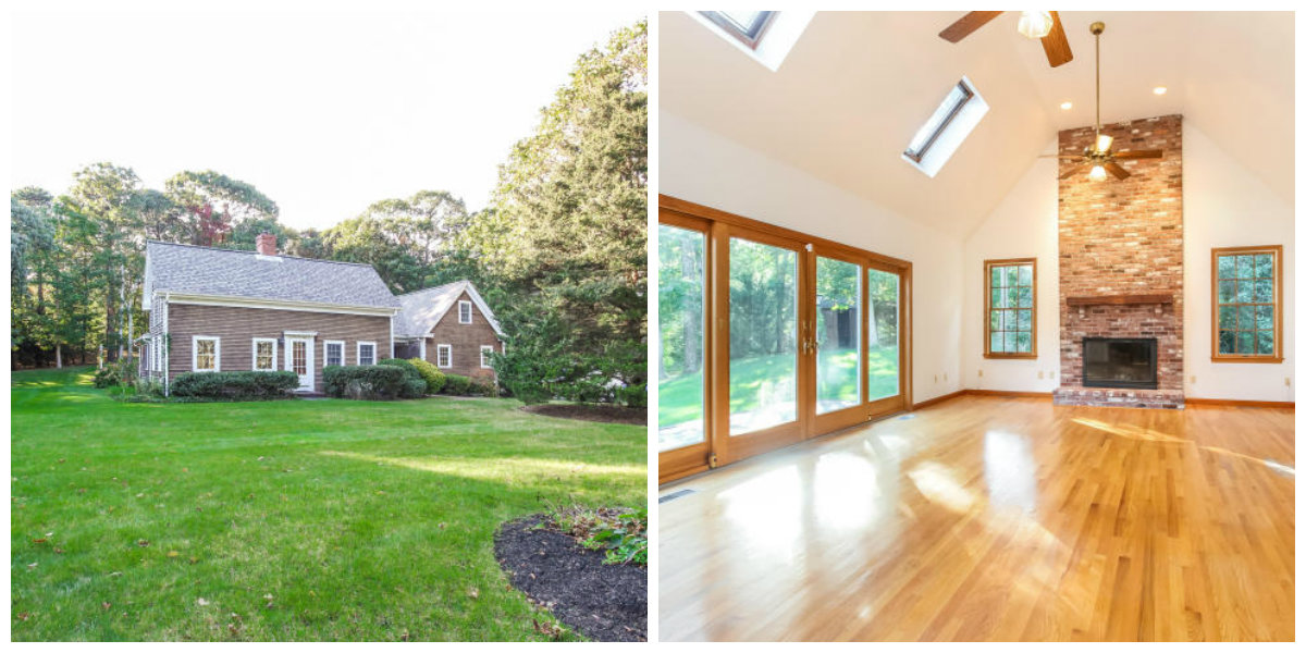 Two Images of 25 Pine Street in Yarmouth Port Cape Cod