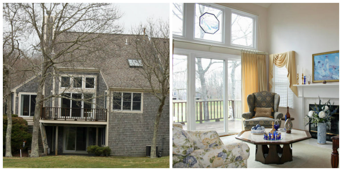 Two Images of 29 Blueberry Path in Yarmouth Port Cape Cod