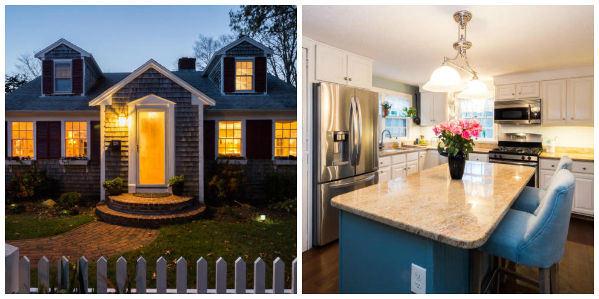 Two Images of 29 Gingerbread Lane in Yarmouth Port Cape Cod