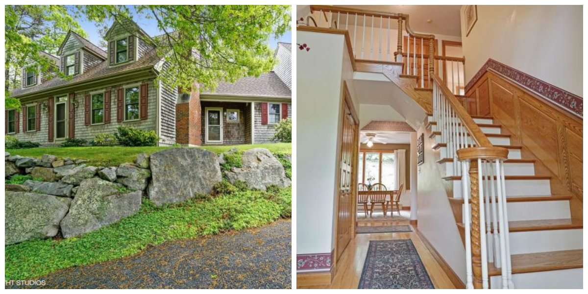 Two Images of 35 Whistler Lane in Yarmouth Port Cape Cod