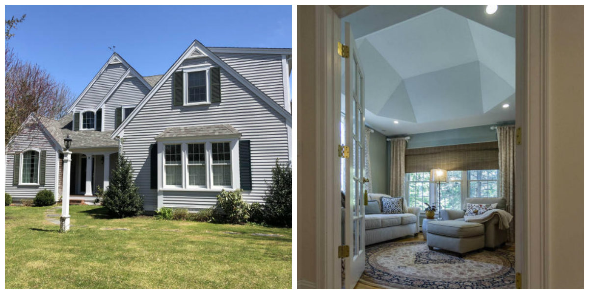Two Images of 38 Winter St in Yarmouth Port Cape Cod