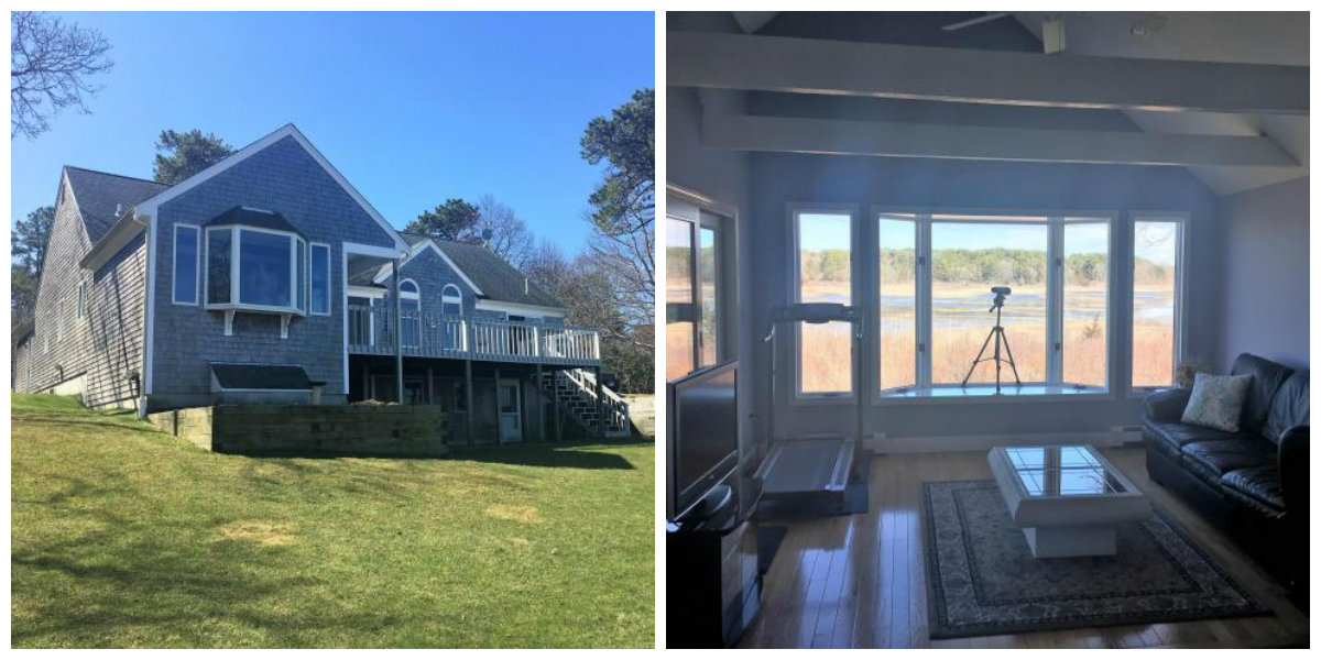 Two images of 54 N Bray Farm Road in Yarmouth Port