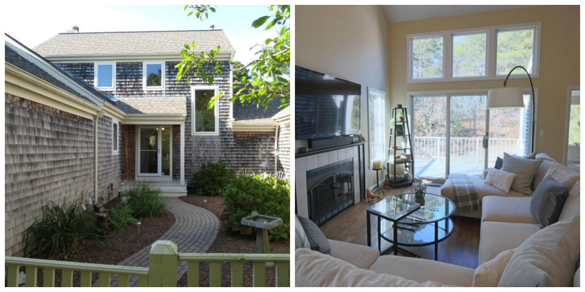 Two Images of 57 West Woods Circle in Yarmouth Port Cape Cod