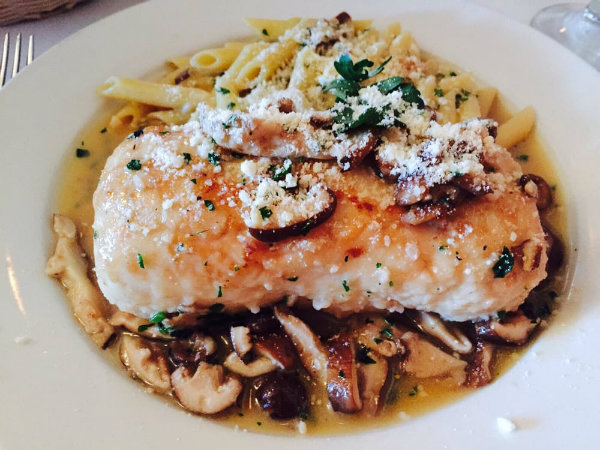 Delicious and Authentic Italian dish served at the Four Seasons Trattoria in Yarmouth