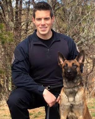 Officer Sean Gannon and his K9 Nero