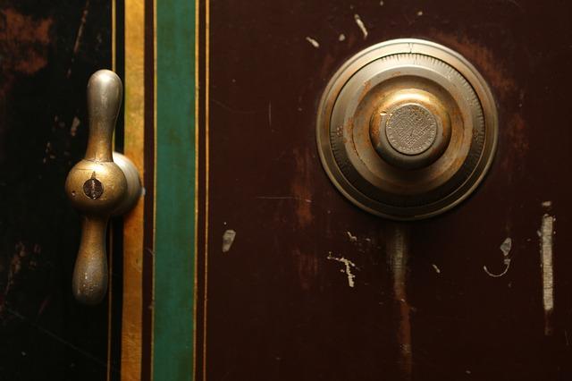 Vintage old safe