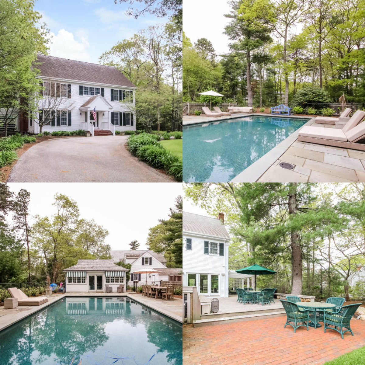 Images of pool at 106 Whitman Road in Cotuit Cape Cod MA