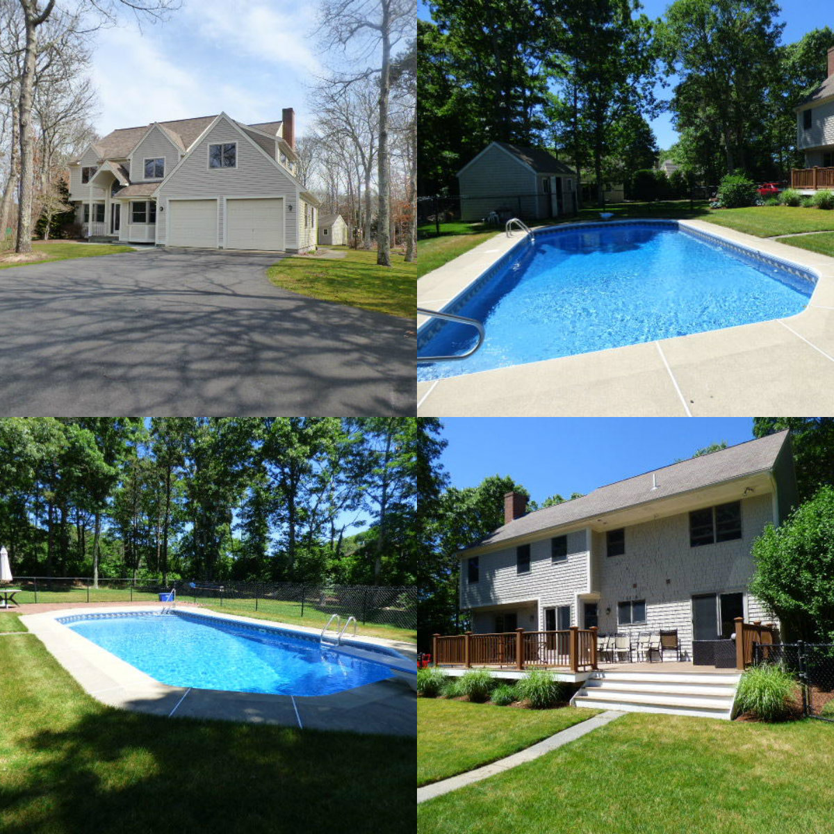 Images of pool at 11 Barque Circle in East Dennis Cape Cod MA