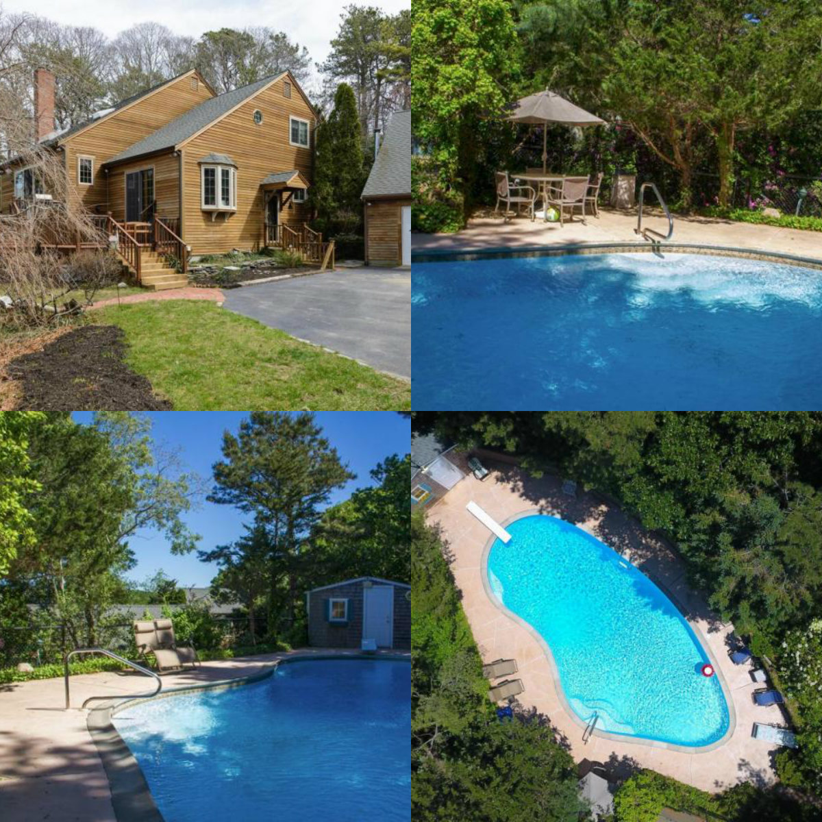 Images of pool at 118 Driftwood Lane in South Yarmouth Cape Cod MA