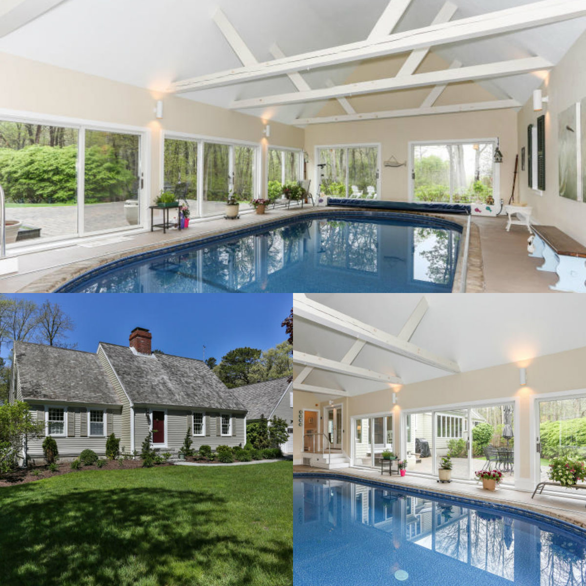 Images of pool at 240 Cape Cod MA