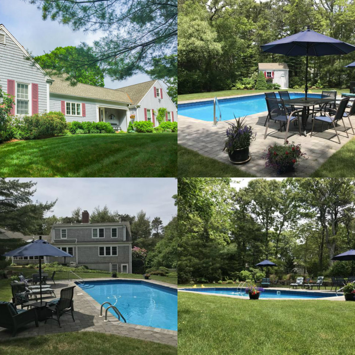 Images of pool at 324 Deer Meadow Lane in Chatham Cape Cod MA