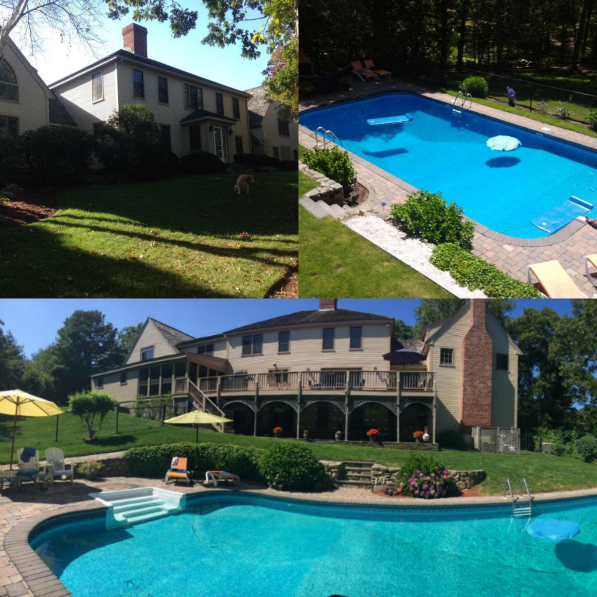 Images of pool at 71 Angela Way in Barnstable Cape Cod MA