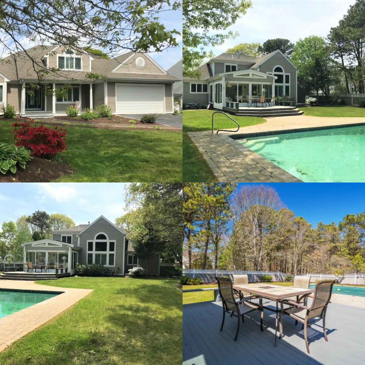 Images of pool at 72 Bayshore Drive in South Mashpee Cape Cod MA
