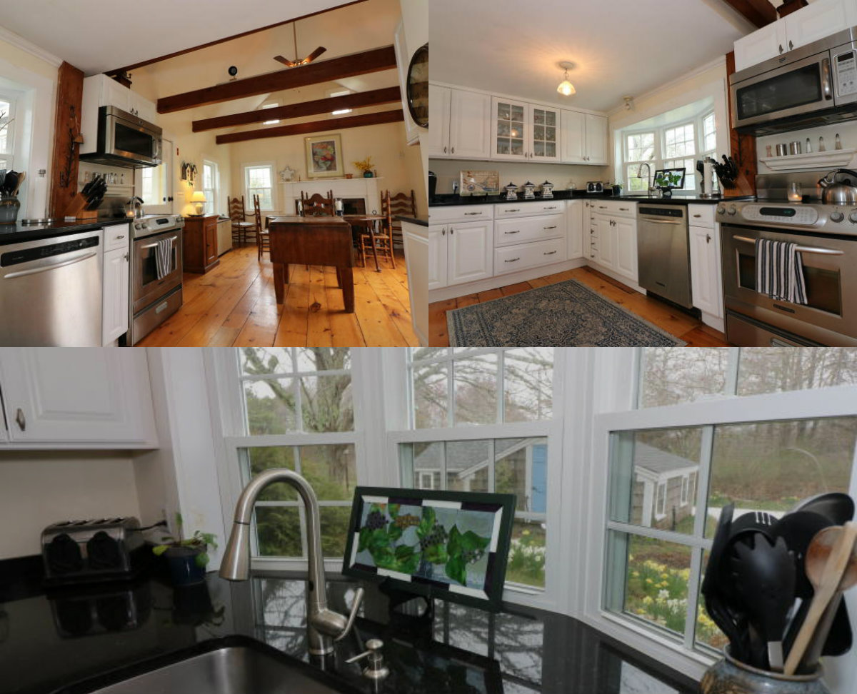 Images of kitchen at 77 Main St in Brewster Cape Cod MA