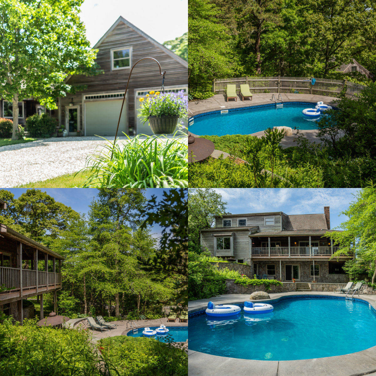 Images of pool at 972 Stony Brook in Brewster Cape Cod MA