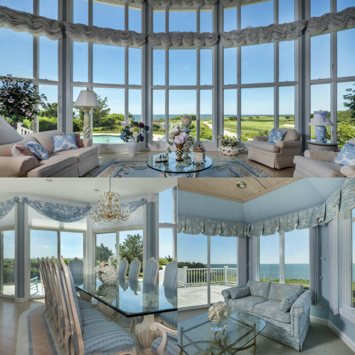 Images of rooms with windows in 134 Shore Drive West in New Seabird on Cape Cod MA