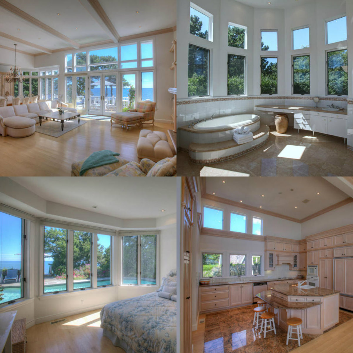 Images of rooms with windows in 27 Ocean Bluff Drive in Mashpee on Cape Cod MA