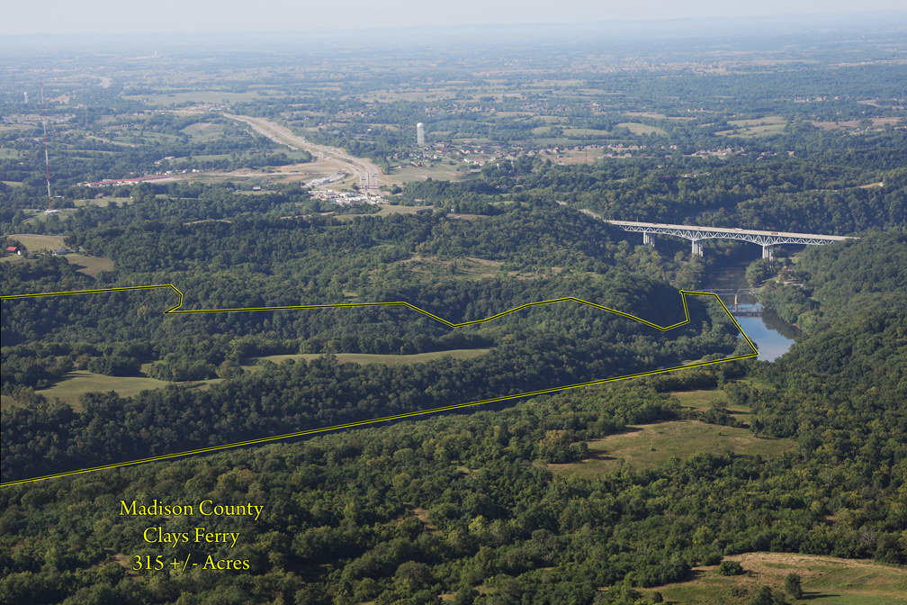 315 Acre Farm For Sale in Madison County KY at Comb's Ferry/Fayette Co. Liine