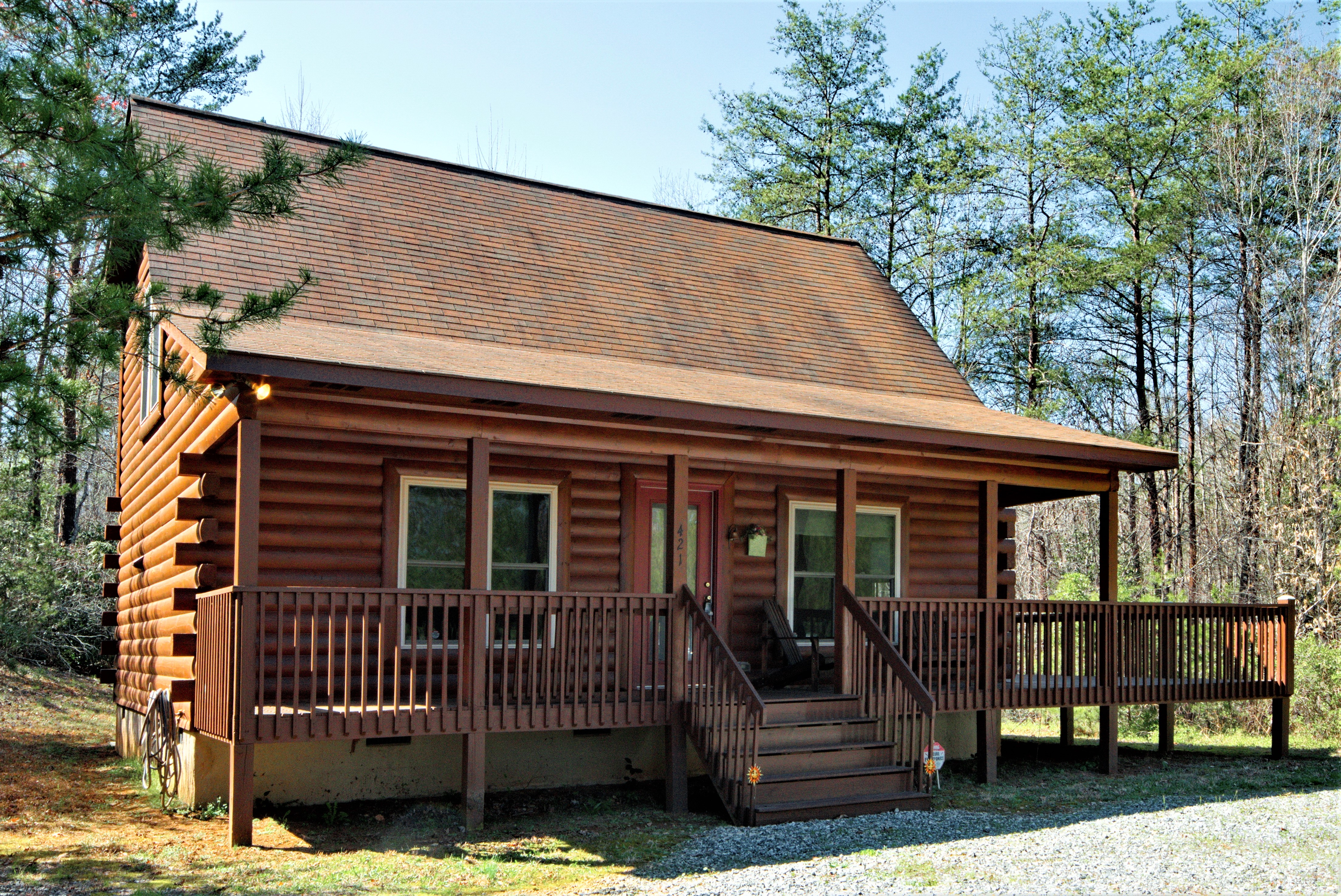 Lake Lure NC Log Cabin In Sweetbriar For Sale