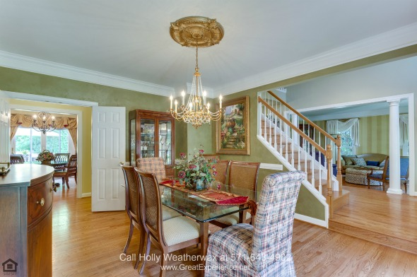 Vienna VA Luxury Homes for Sale - Enjoy dining and entertaining in the formal dining room of this luxury home for sale in Vienna VA.