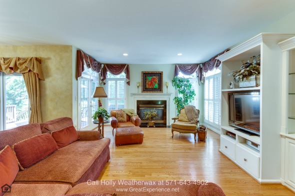Vienna VA Homes - Fall in love with the bright and airy space of the great room of this luxury home for sale in Vienna VA.