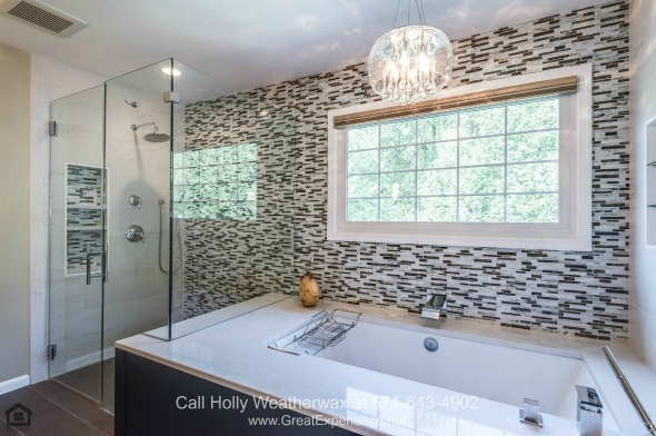 Homes in Reston VA - Complete rest and pampering are yours in the luxurious master bathroom of this Reston VA home.