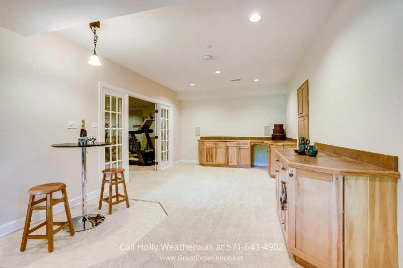 Real estate in Reston, VA - Game nights are made more fun in this entertainment game area in this property for sale in Reston, VA